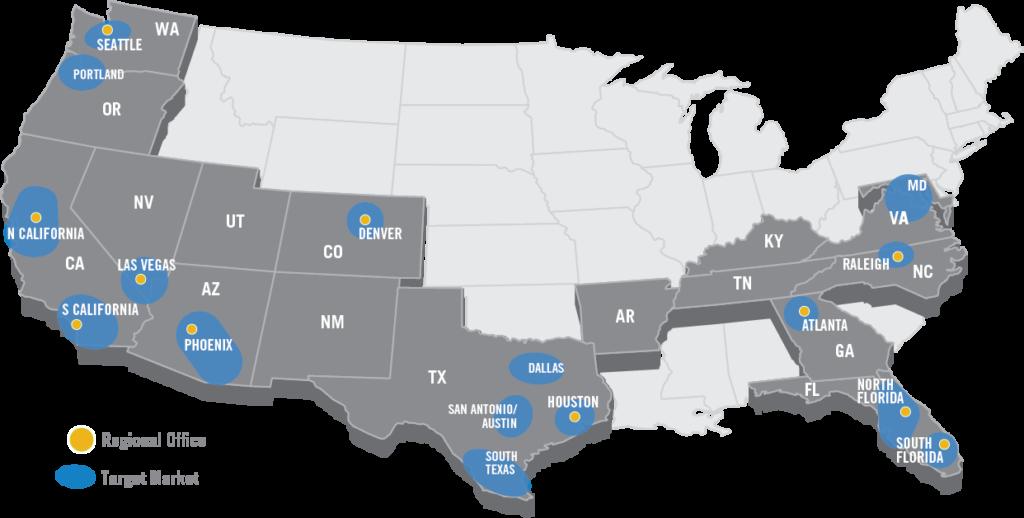 target markets map